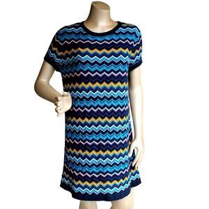 Missoni For Target Zigzag Stripe Blue Dress